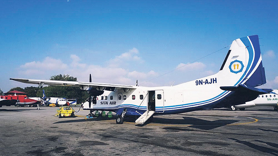 Sita Air plane does safe landing with one engine out