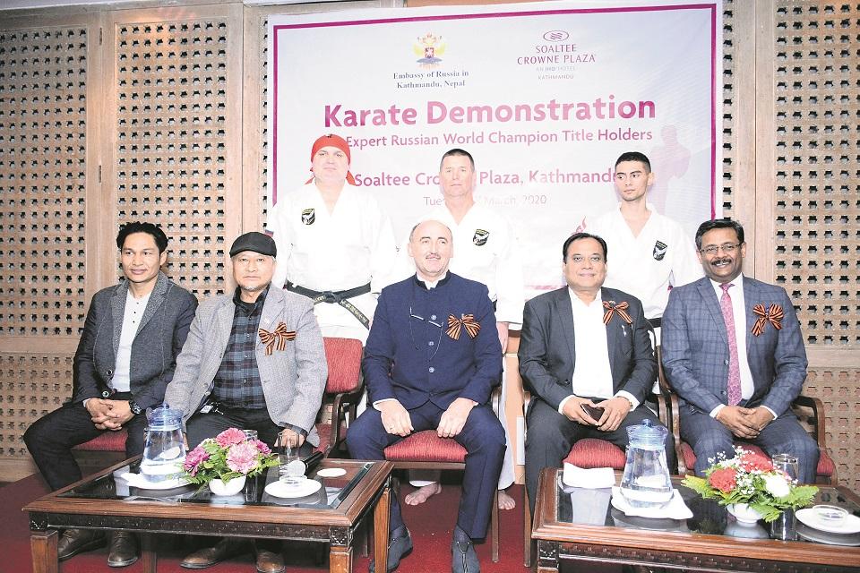 Russian karate team begins week-long Nepal tour