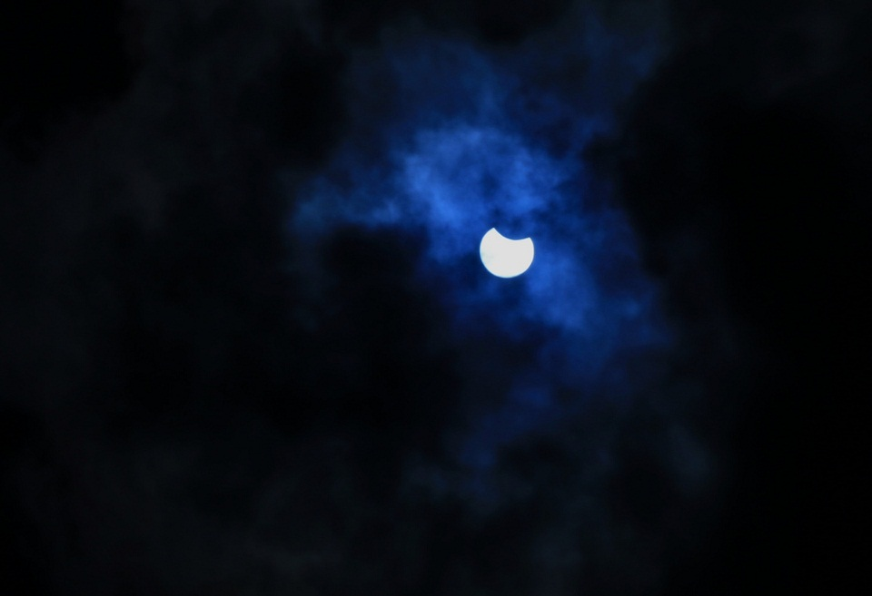 Photos: Partial solar eclipse as seen from Bhaktapur