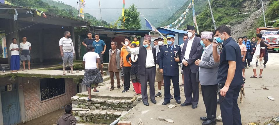 Speaker Sapkota arrives at flood-hit region in Sindhupalchowk