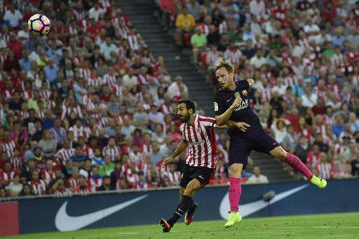 Rakitic scores to give Barcelona 1-0 win at Bilbao