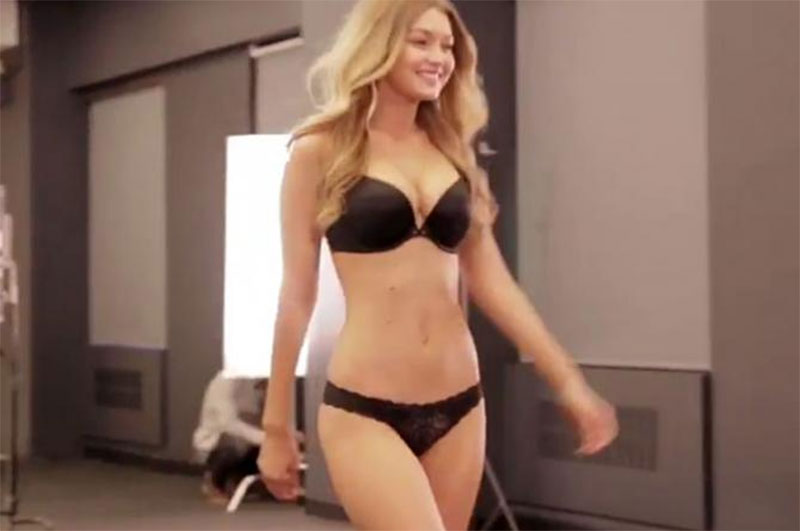 Gigi Hadid shows off flawless figure as she strips down