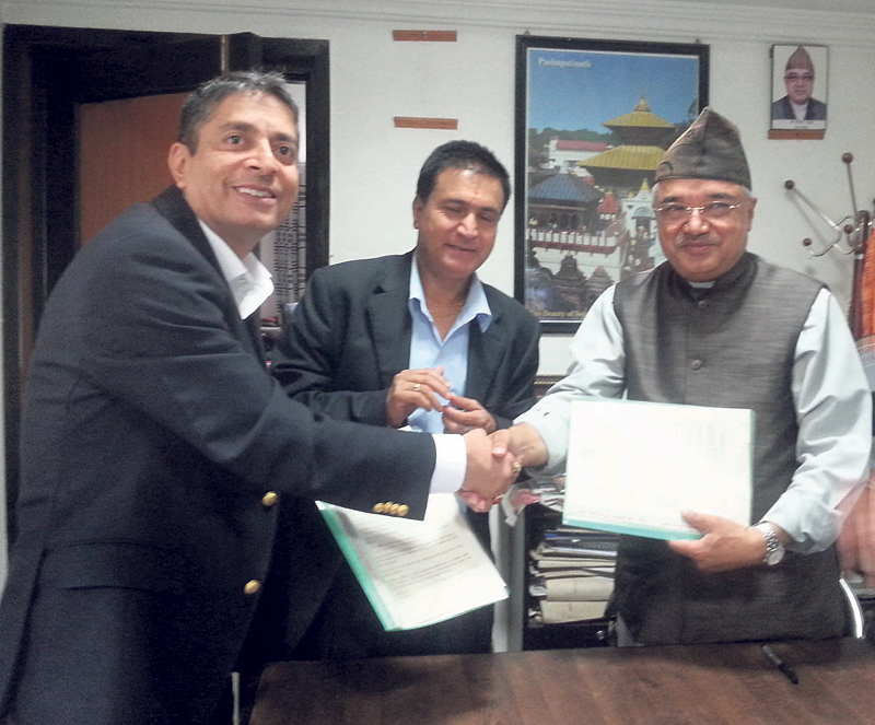 NIBL signs pact with PADT to rebuild 'Mahasnan Ghar'