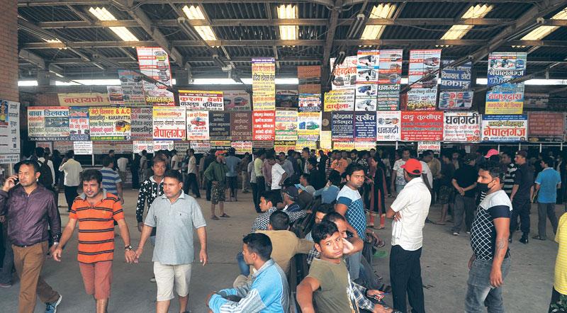 Bus passengers reel under lack of tickets for Dashain