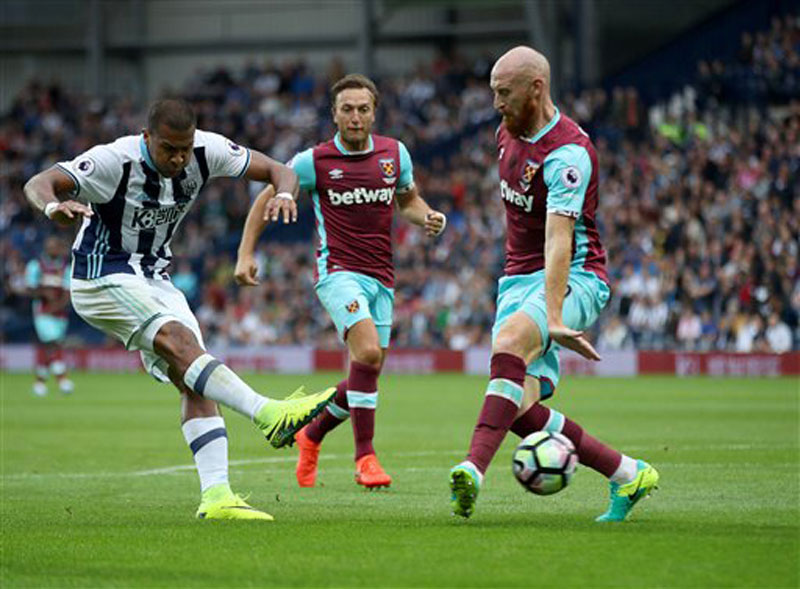 West Brom humbled West Ham at the Hawthorns