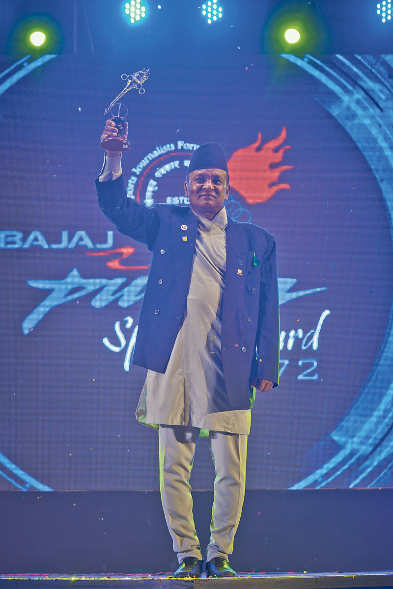 Ranjitkar wins lifetime achievement award