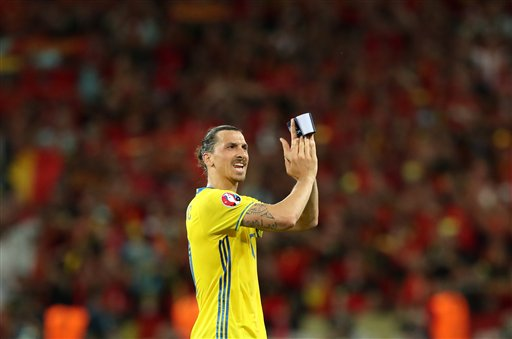 Belgium knocks out Sweden in Ibrahimovic's last game