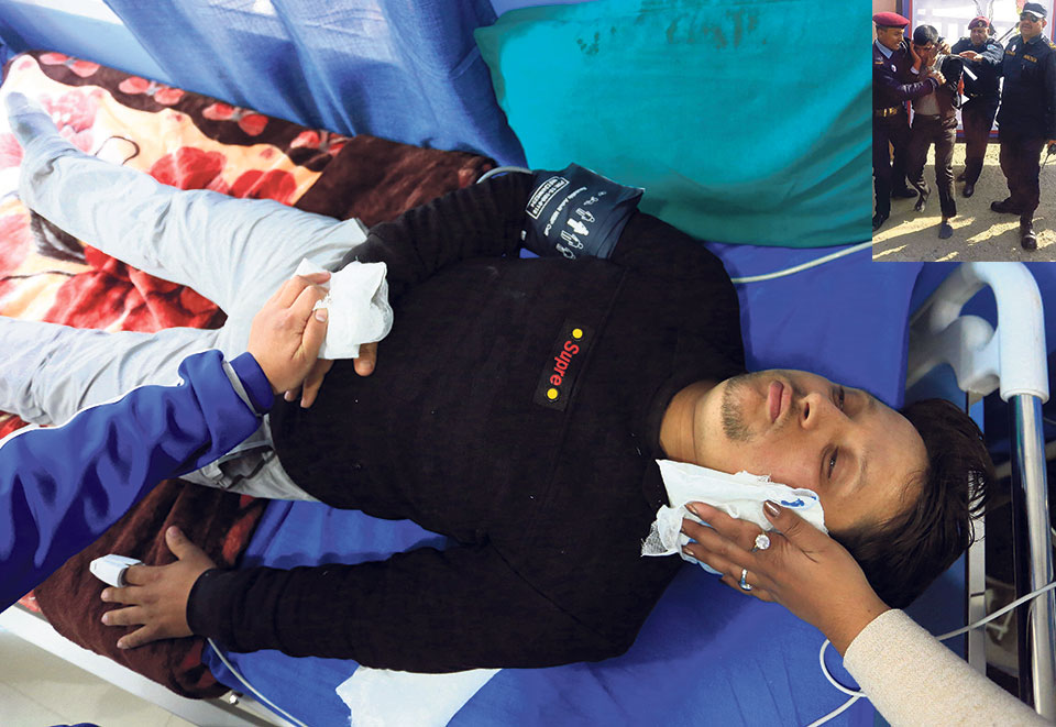 Nagarik reporter injured in police assault