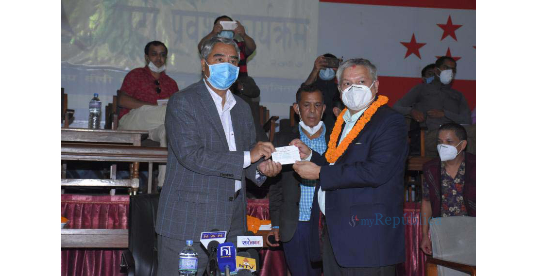 Former RPP leader Thapa, others join NC (with photos)