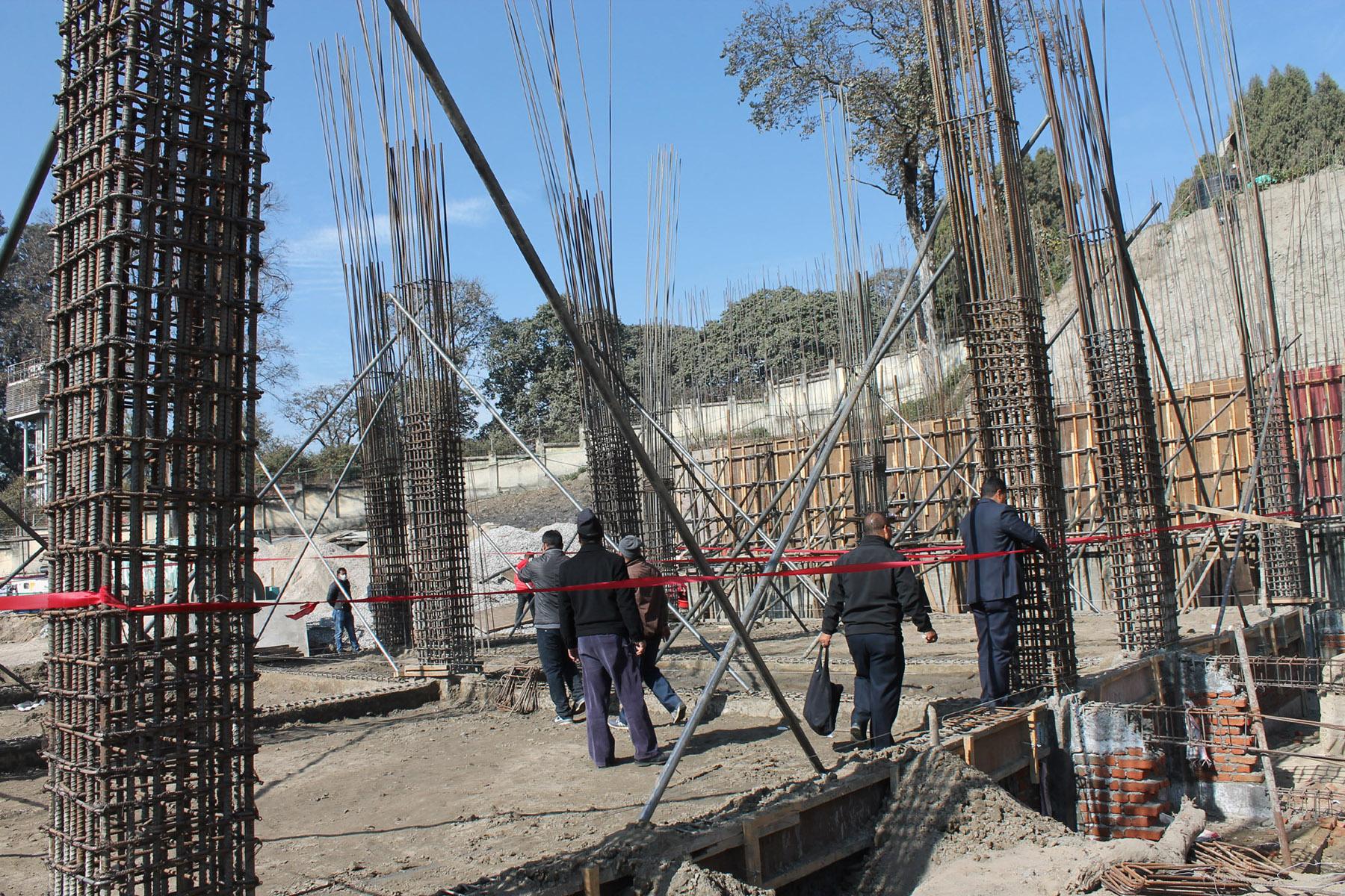 Madhyapur Thimi Municipality seals under-construction building of TB hospital