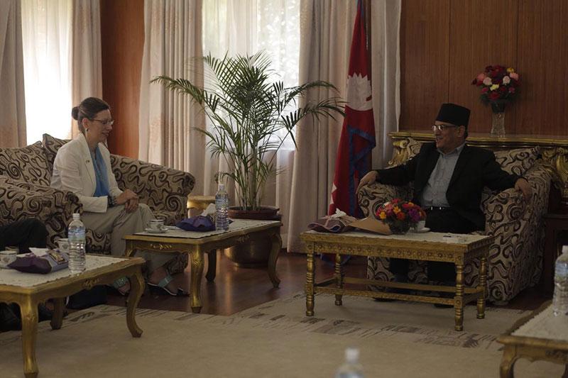 US Ambassador Teplitz calls on PM Dahal