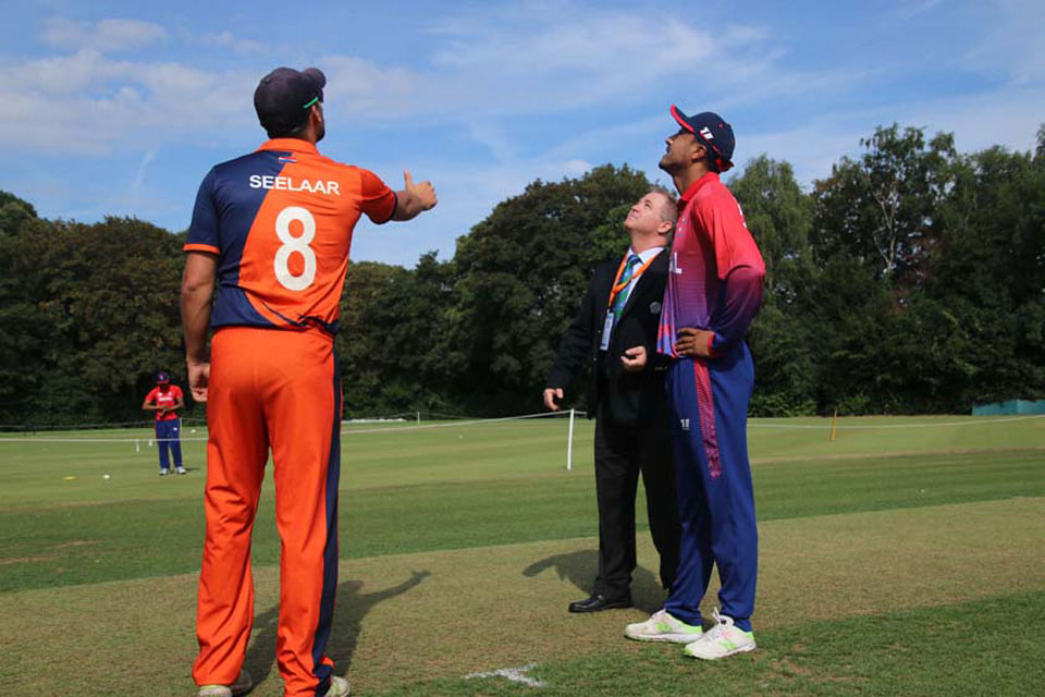 Nepal elects to bat first after winning the toss
