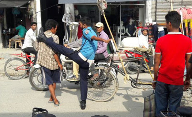 Image result for nepali police kicking