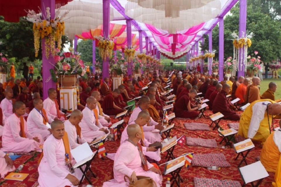 Second International Tripitaka chanting ceremony begins in Lumbini