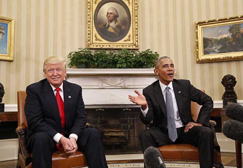 Trump accuses Obama of tapping his phones, cites no evidence