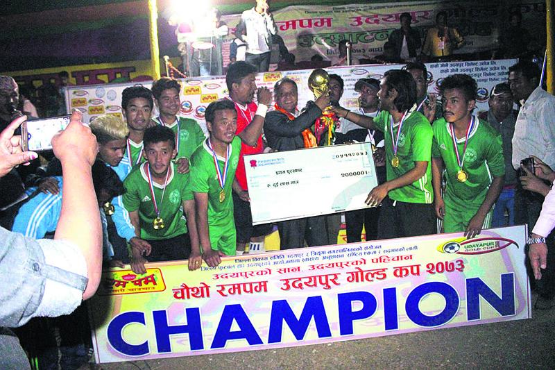 Rupandehi wins Udaypur title on penalties