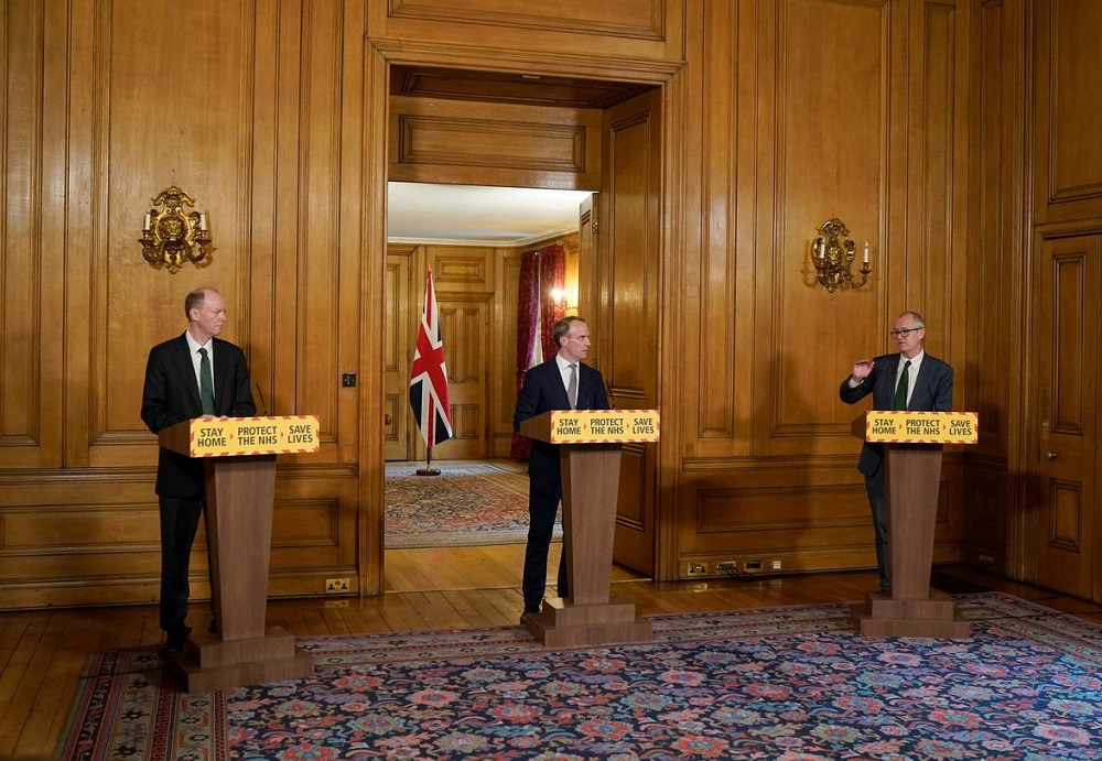 UK extends lockdown measures for at least three more weeks