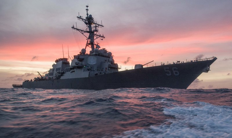 US warship collides with tanker near Singapore; 10 missing
