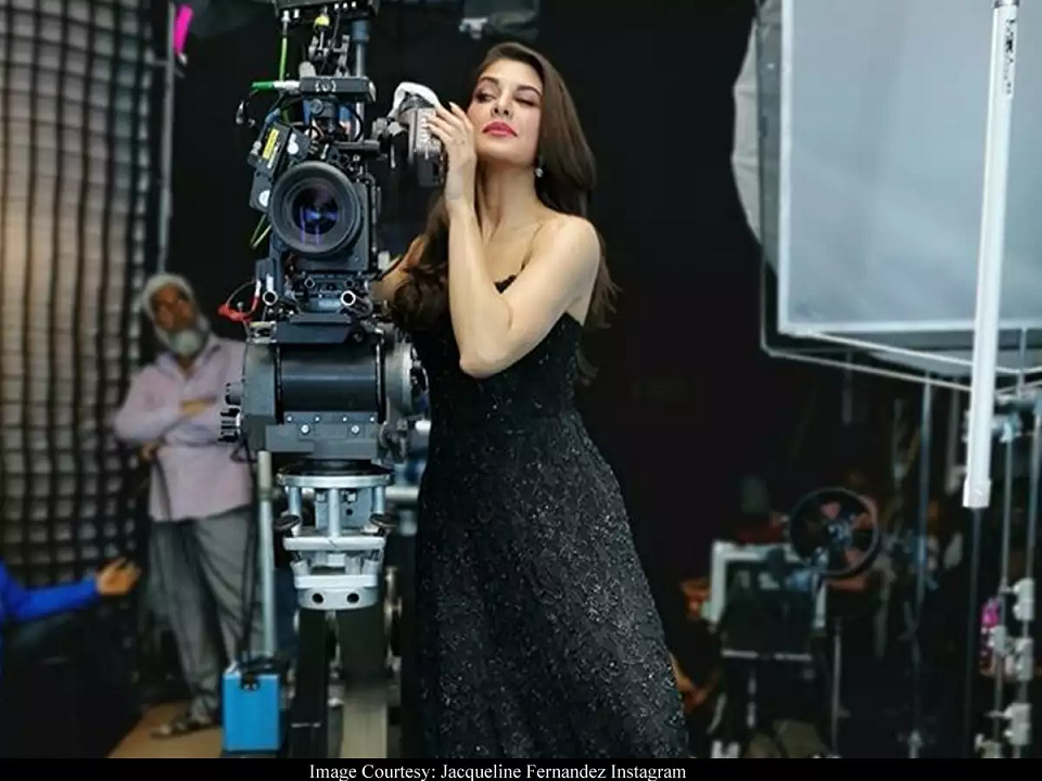 Jacqueline Fernandez strikes a pose behind the camera