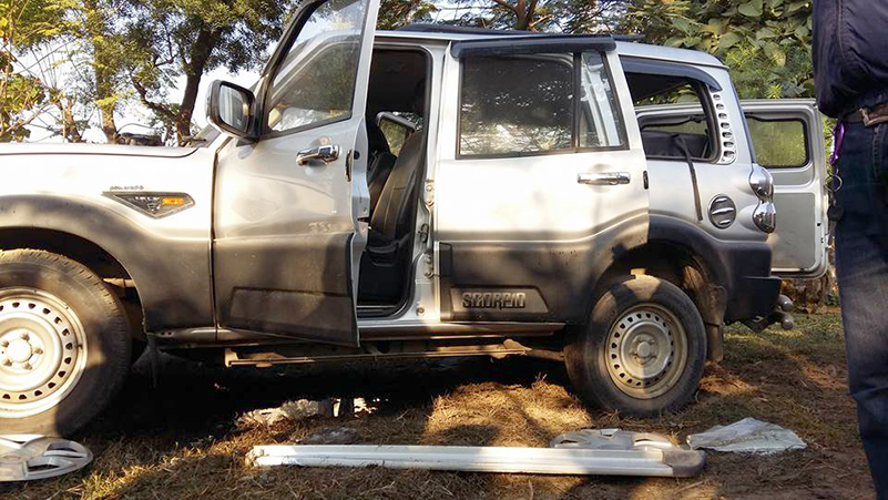 Bomb detonated  targeting NC candidate's vehicle