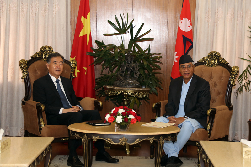 Chinese DPM calls on PM Deuba; President Xi urged to visit Nepal