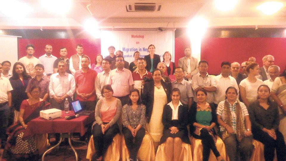 Workshop on migration, environmental changes