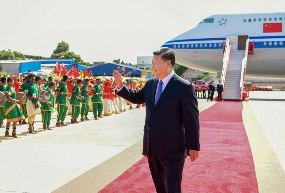 Chinese President Xi Jinping leaves Chennai for Kathmandu