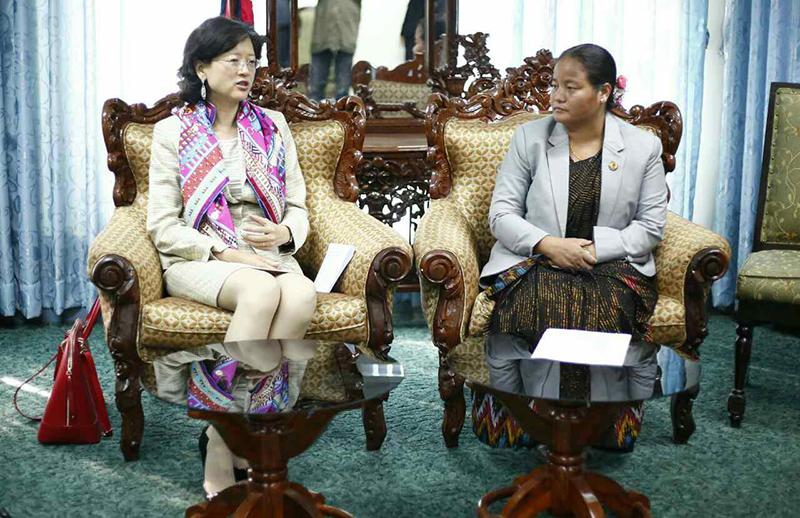 Chinese envoy Yu meets Speaker Gharti
