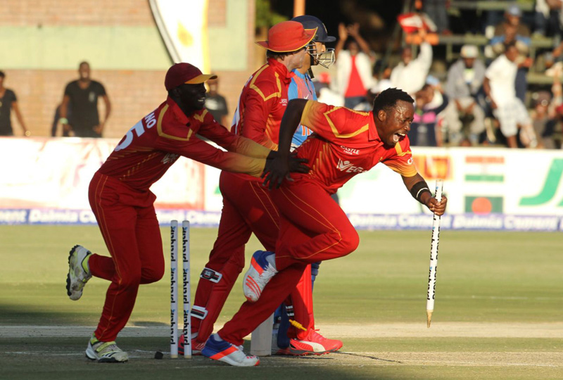 Zimbabwe upsets India by 2 runs in 1st T20