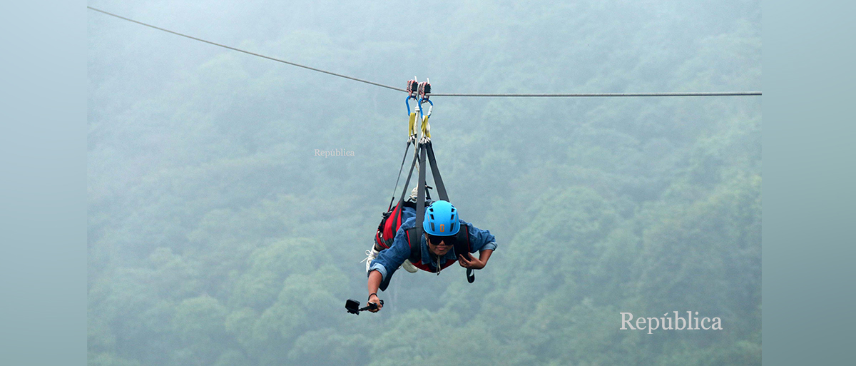 PHOTOS: Zip line resumes in Bhedetar