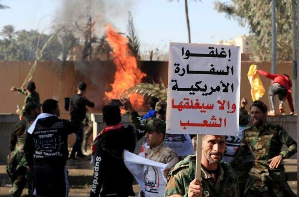 U.S. embassy in Baghdad evacuated as protesters denounce U.S. airstrikes