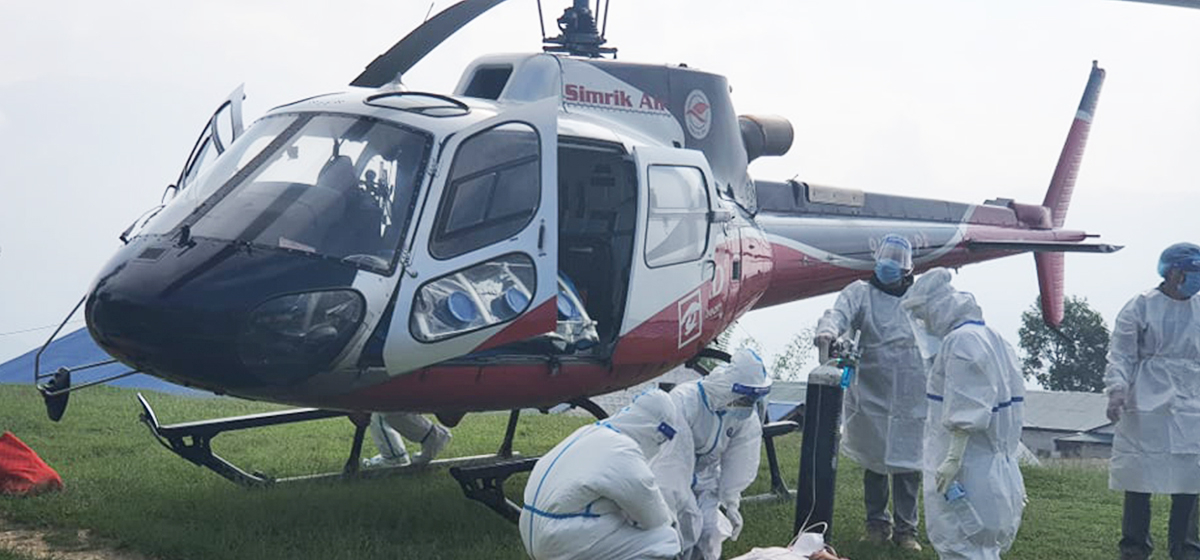 COVID-19 patients forced to charter expensive helicopter to reach hospitals