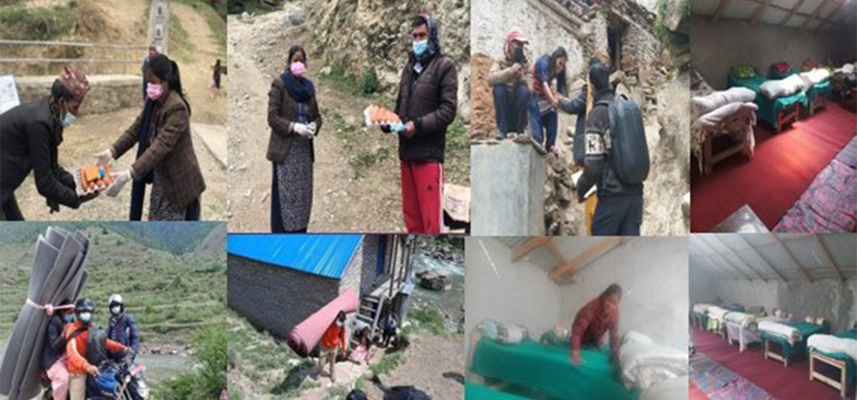 """""""Door to Door"""" counseling, medicine distribution for COVID-19 patients by rural municipality vice-chair in Jumla"""