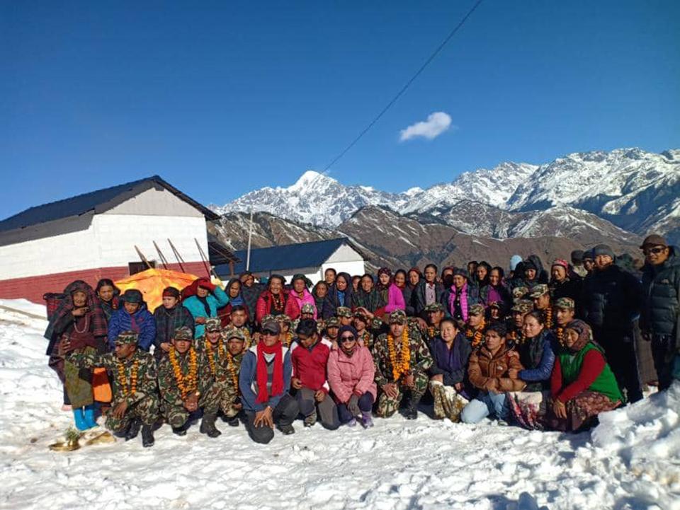 Nepal Army leaves Gorkha's Laprak village after completing major reconstruction works