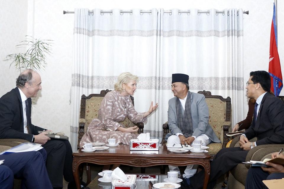 Princess Astrid of Belgium meets DPM Pokharel (with photos)