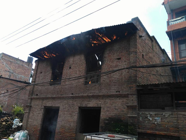 Fire guts house in Bhaktapur