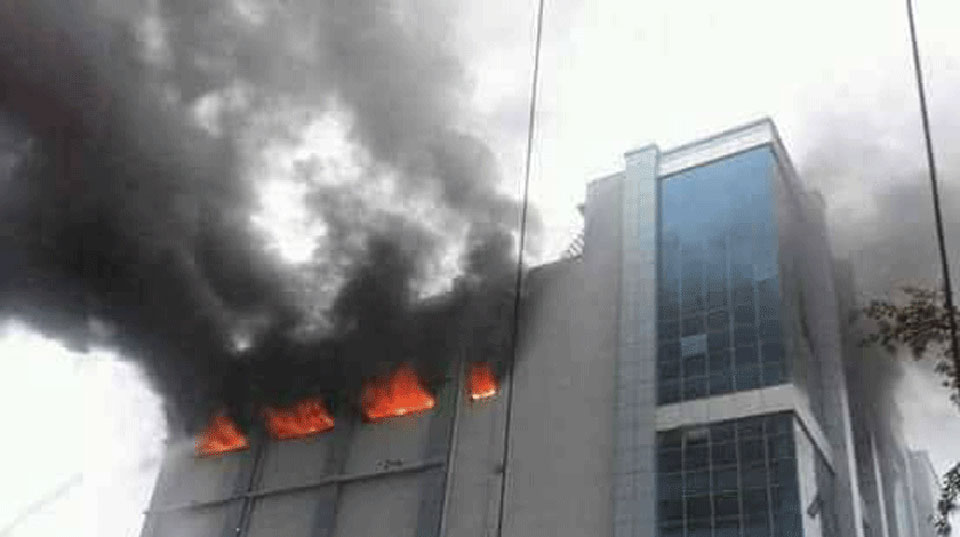 Fire ablaze at Bhatbhateni
