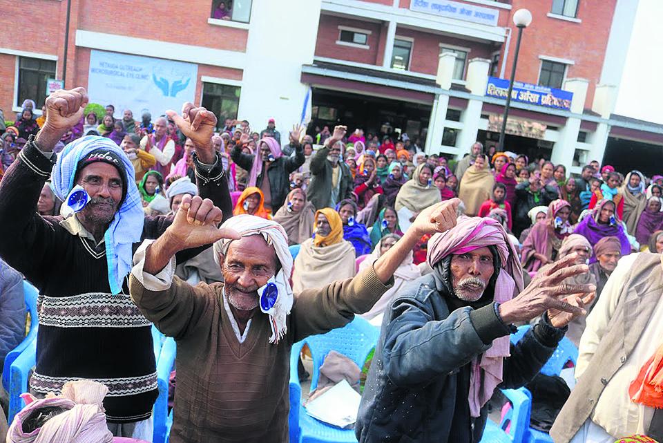 Celebrations after over 1000 blind elderly regain eyesight