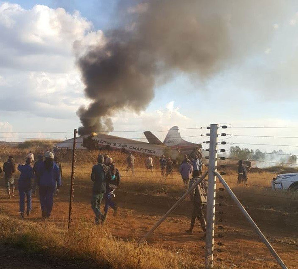 Plane crashes outside South Africa's Pretoria: At least 19 injured