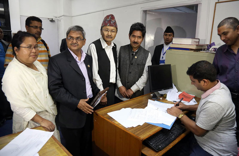 Ruling parties and Madhesi Front register joint amendment proposal