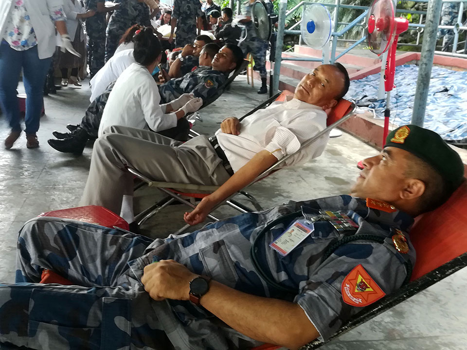 National blood donation campaign