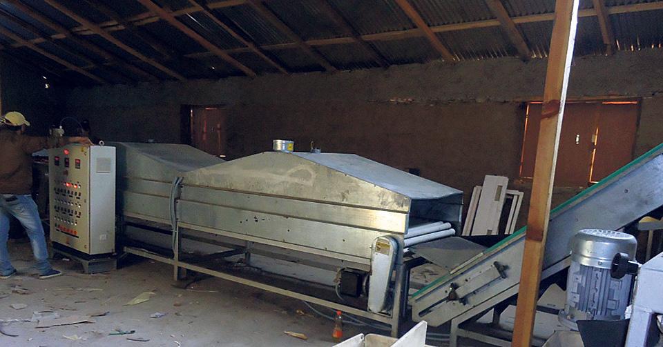 Apple grading machine left to rot in Jumla