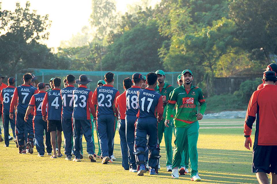 Asif shines in Nepal's win over Bangladesh