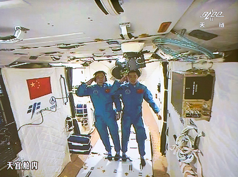 China astronauts return from month-long space station stay