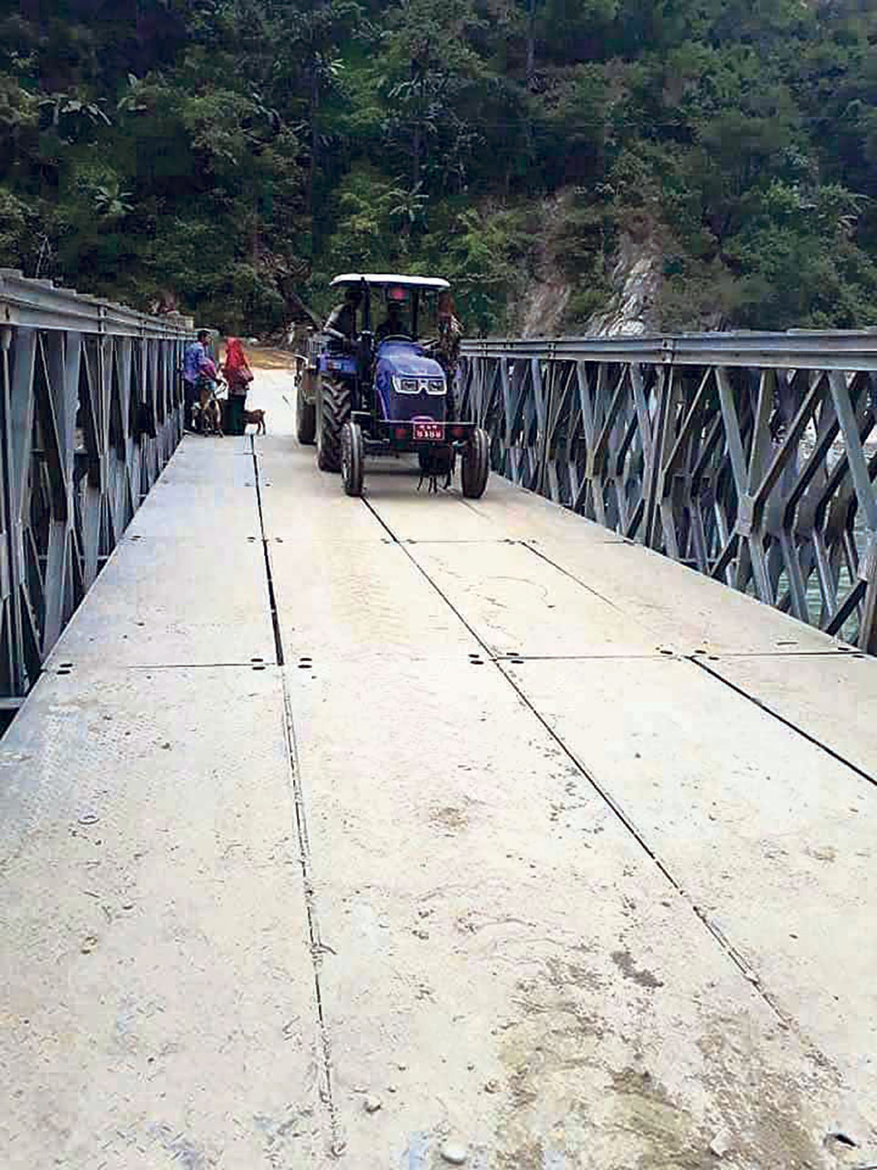 Bailey bridge connects Khotang to eastern tarai
