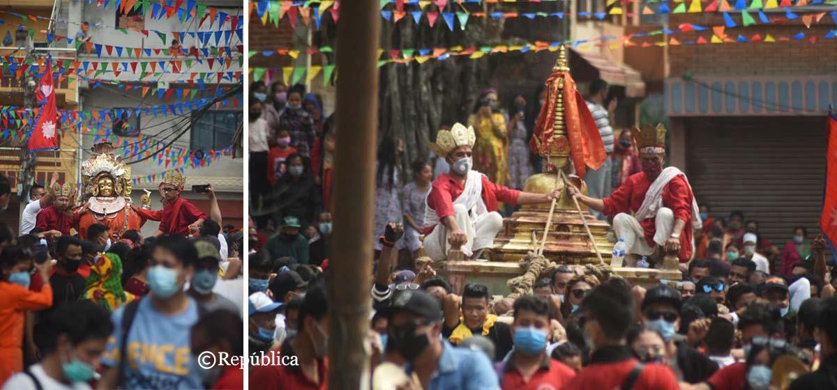 Sankhu continues jatra celebration despite COVID-19 restrictions(photo feature)