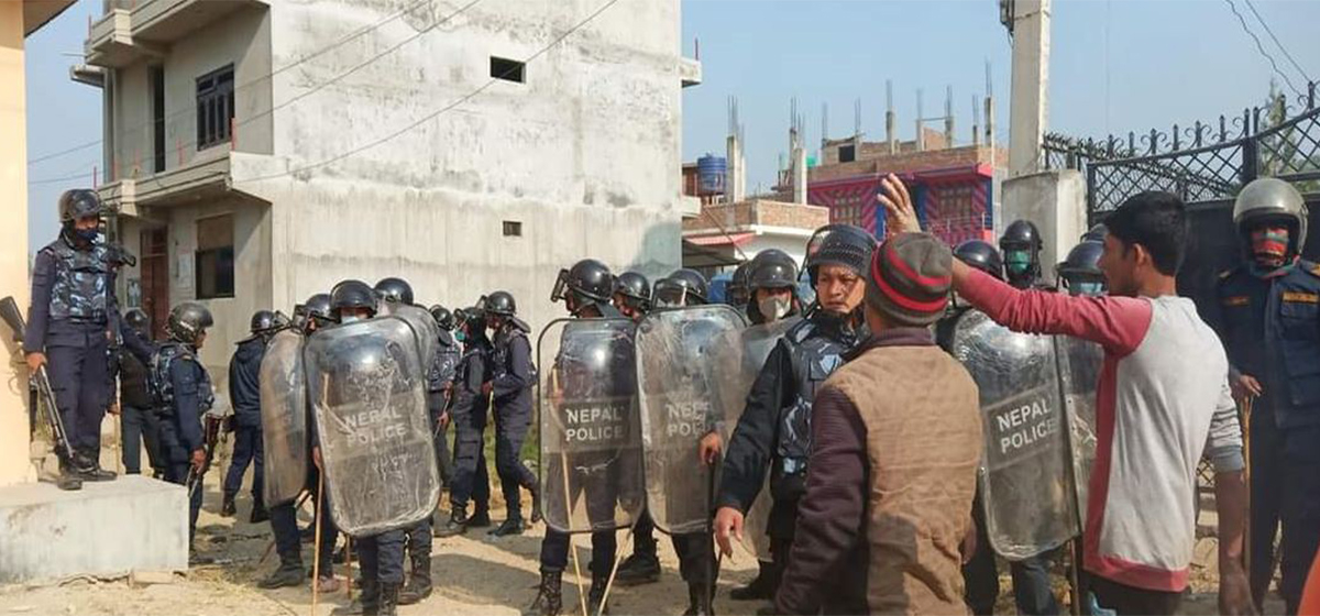 Three injured as police open fire on locals protesting against murder of minor in Mahottari
