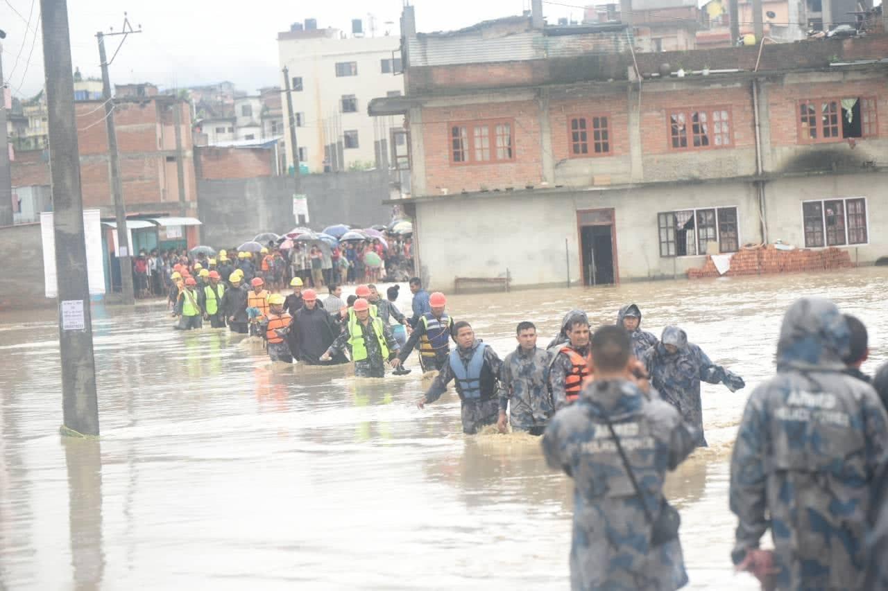 Three killed, hundreds displaced as rains wreak havoc in Bhaktapur