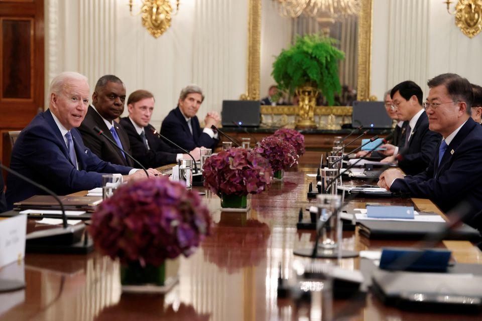 Biden, South Korea's Moon express willingness to engage North Korea