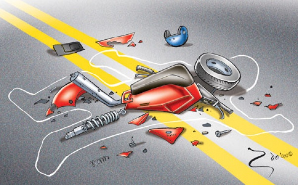 One motorcyclist dies in road accident
